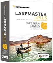 Humminbird Lakemaster Plus Western States Edition Digital GPS Lake and Aerial Maps, Micro SD Card, Version 1
