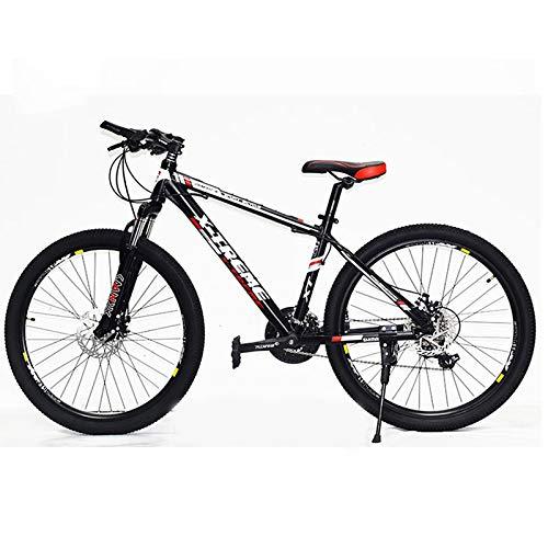 Bicicleta de montaña con asiento ajustable y absorción de impactos, ruedas de 26 pulgadas, freno de disco doble de 27 velocidades, aleación de aluminio, para adultos, conducción al aire libre,2
