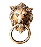 eSplanade - 6.75' Brass Lion Mouth Door Knocker   Brass Door Knocker