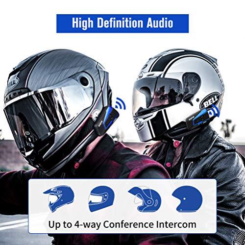 LEXIN B4FM 2X Motorrad Bluetooth Headset, Helm Intercom Geräuschreduzierung, Kommunikationssystem für Motorräder, Freisprechanlage bei Motorradfahren und Skifahren - 5