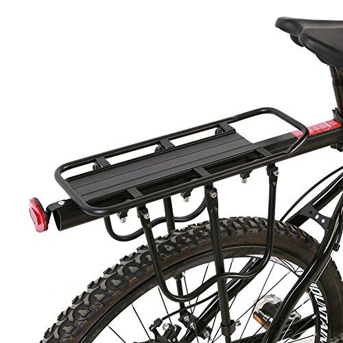 SOONHUA Portabicicletas Trasero para Bolsas de Alforjas Aleación de Aluminio Bicicleta de Montaña Asiento Trasero Portaequipajes Portaequipajes Accesorio de Ciclismo