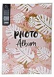 Exacompta Pastel Tropic 62223E - Álbum de fotos con fundas – 300 fotos de 10 x 15 cm – 100 páginas – Formato de 22,5 x 32,5 cm – Álbum impreso con una marca rosa sobre la cubierta