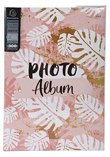 Exacompta 62223E Album Buste 300 Foto 10x15cm Pastel Tropic-Formato 22,5x32,5cm, Disegno, 5 cm
