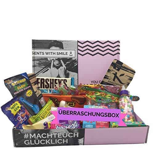 Überraschungs Süßigkeiten Box - Box mit verschiedenen Süßigkeiten 500g - GERINGES MINDESHALTBARKEITSDATUM Muttertagsgeschenk Geschenk zum Muttertag