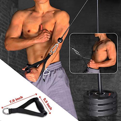 BZK 3 in 1 Upgraded 11 Packs LAT and Cable Attachments Pulley System Gym Equipment - Pull-Downs Pulley ProMachine with Upgraded Loading Pin for Exercise Upper Body- Home Fitness Equipment