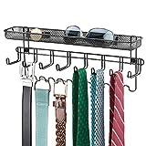 mDesign Closet Wall Mount Men's Accessory Storage Organizer Rack...