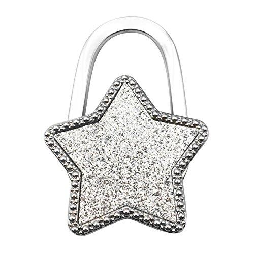 Naisicatar - Perchas plegables para bolsos de mano, gancho para bolsos, de mesa, colgador de bolsos, soporte para bolsos, regalos, mujeres y niñas, color plateado # X 1