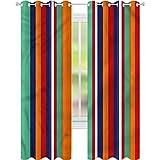 jinguizi Cortina de ventana opaca abstracta colorida rayas...