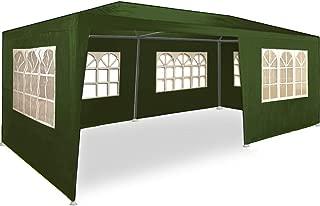 Maxxgarden 3x6m Partyzelt Gartenzelt Garten Pavillon Bierzelt Festzelt mit 6 Seitenteilen (Grün)