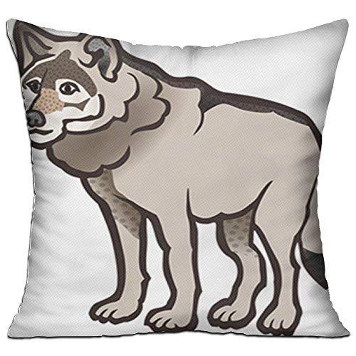 GFGKKGJFD27 Fundas de cojín de dibujos animados para perros, 45 cm x 45 cm, lona, fundas de almohada para sofá, regalos para adolescentes y niñas, dormitorios