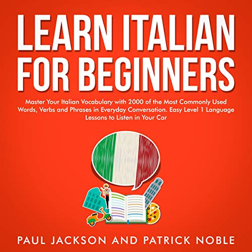 Learn Italian for Beginners audiobook cover art