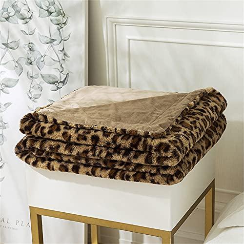 OUTPRO Mantas de forro polar súper suaves y mullidas mantas de cama para sofá, cama, sofá y sofá (marrón claro, 130 x 160 cm/1,2 kg)