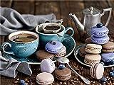 Donut taza de café bordado de diamantes té de la tarde Kit de diamantes de imitación mosaico de mano Kit de pintura de...
