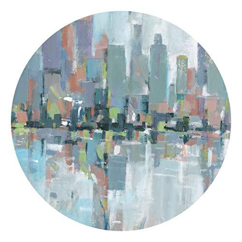 Carta da parati rotonda autoadesiva - Metro City I 225 × 225 cm