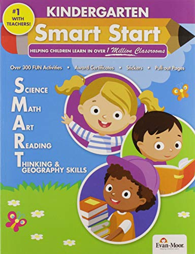 Evan-Moor Smart Start, Grade K Activity Book - Learning Enrichment Workbook for Science, Math, Art & Reading