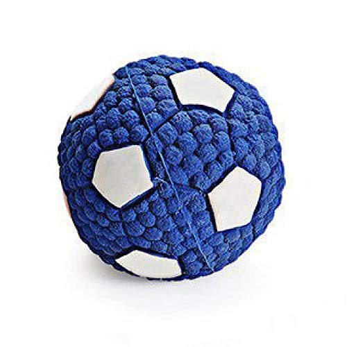Goldenking Dog Toys and pet Products with Built-in doll Cotton to Remove Bleeding Gums and Make a Sound Toy Ball, Tuba Football