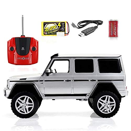 Poooc Camión de control remoto Off Road RC Car 1:12 vehículo de control remoto G500 4X4 modelo de luz todoterreno coche de juguete eléctrico para niños 2.4GHz Juguete Idea de regalo ideal para niños N