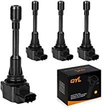 QYL 4Pcs Ignition Coils Pack Replacement for Nissan Altima Cube Sentra Rogue Select NV200 Pathfinder 1.8L 2.0L 2.5L/Infiniti FX50 M56 QX60 2.5L 5.0L 5.6L C1696 UF549 5C1753