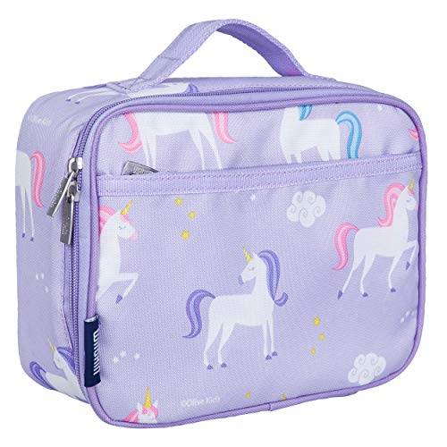 Wildkin Kids Insulated Lunch Box for Boys and Girls, Perfect Size for Packing Hot or Cold Snacks for School and Travel, Mom's Choice Award Winner, BPA-free, Olive Kids (Unicorn)