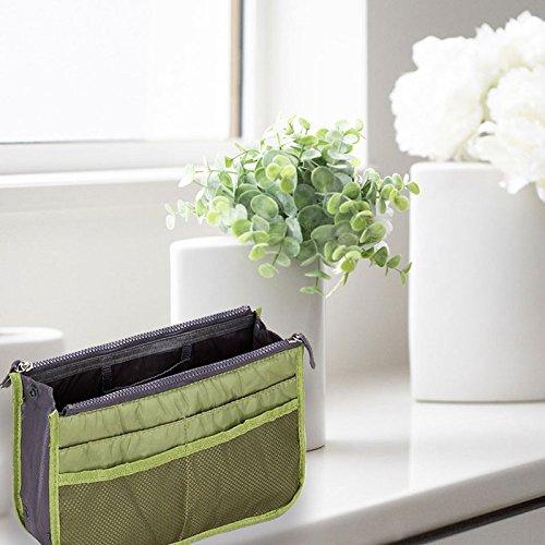 TTLIFE 2016 Nuovo Grande In Bag Fadish Travel Organizer Borsa per il trucco, doppia cerniera portatile, multi tasche da viaggio