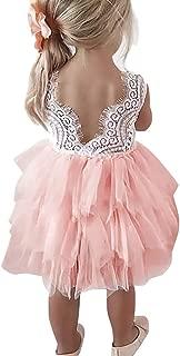 pink lace toddler dress
