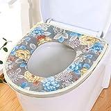 Estera de aseo Aseo verano del amortiguador del cojín del asiento de tocador de la cremallera Aseo almohadilla gruesa impermeable a prueba de agua de dibujos animados Aseo anillo del cojín WC cojín de