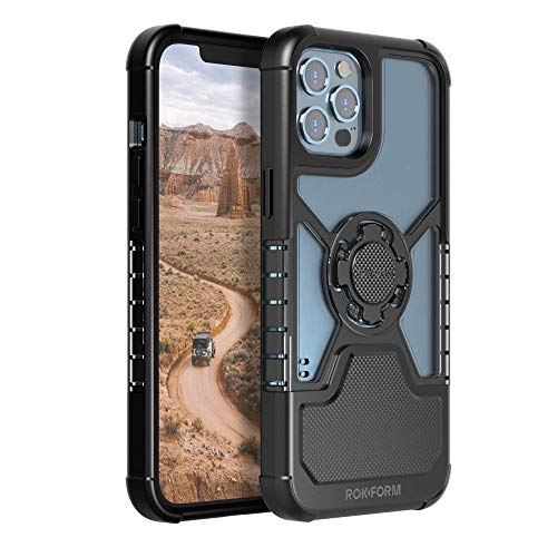 Rokform - iPhone 12 Pro Case, iPhone 12 Case, Slim Magnetic, Clear Apple Case, iPhone Cover with RokLock Quad Tab Twist Lock, Dual Magnet, Drop Tested Armor, Crystal Series (Clear)