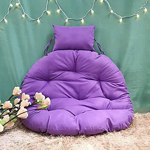 MSTOLL More versatile Hanging Basket Chair Cushions Garden Hanging Papasan Chair Cushion-105 cm (41 purple