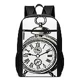 OMNVEQ Mochila Escolares Catálogo de Reloj Grabado, Mochila Tipo Casual para Niñas Niños Hombre...