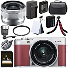 $552 » Fujifilm X-A5 Mirrorless Digital Camera with 15-45mm Lens (Pink) + 32GB SDHC Card + 52mm UV Filter + NP-W126 Lithium Ion Battery + External Rapid Charger Bundle