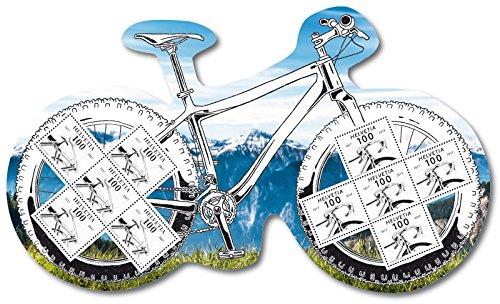 Der Fahrrad-Spezialblock | Schweiz| Briefmarken-Spezialblock |Format 295 x 170 mm | 200-Jahr-Jubiläum des Fahrrades |Karl Drais |streng limitiert | Velo