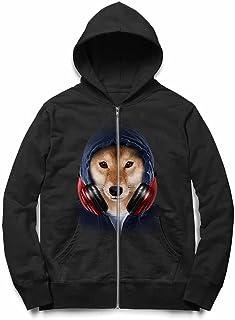 Fox Republic 柴犬 ヒップホップ ラッパー いぬ 犬 キッズ ジッパー パーカー スウェット トレーナー