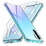 Losvick Coque pour Huawei P30 Pro, 2 Pack Protection d'écran en TPU, Transparent Souple Silicone...