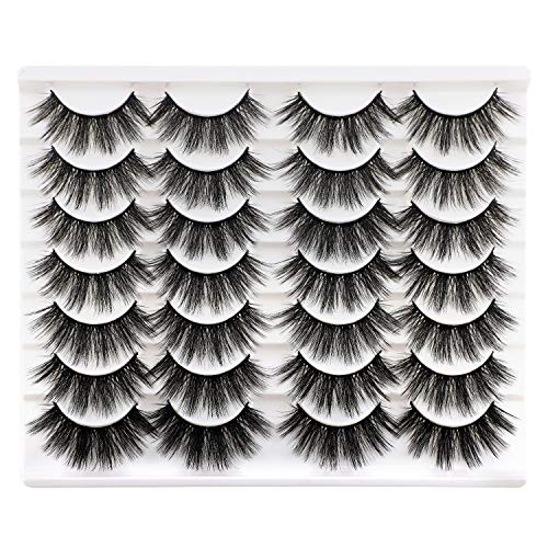 Newcally Lashes False Eyelashes Dramatic 20MM Lashes 14 Pairs Long Thick Volume Fake Eye Lashes Pack