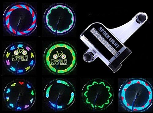 【時間経過で光の模様が変化】タイヤを回すと綺麗な光の模様ができる ユニークアイテム 自転車ホイールLED...
