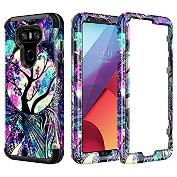 Lamcase Compatible with LG G6 Case Shockproof Dual Layer Hard PC & Flexible Silicone High Impact Durable Bumper Protective Case Cover for LG G6 2017 Life Tree