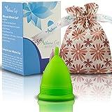 Coupe Menstruelle Athena - Garantie Sans Fuites Ou Démangeaisons - Silicone Très Douce Et à Peine Perceptible - Taille 2, Vert Mat