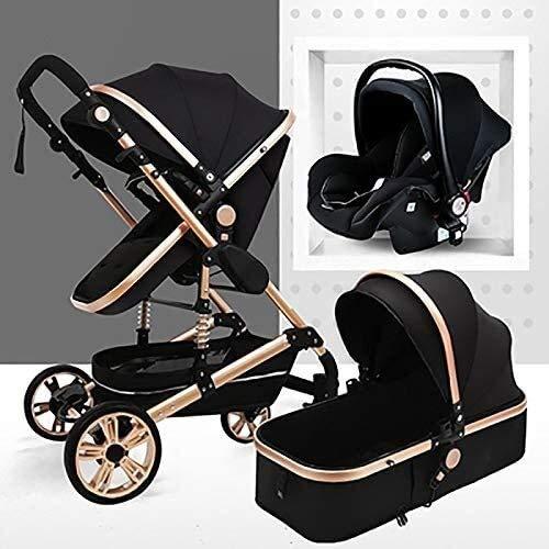 YZPTD Cochecito Plegable de la Silla de Viaje Cochecito de bebé Plegable Anti-Shock Compacto Convertible Carruaje de bebé con Cesta de bebé para recién Nacido y Infante y niño pequeño