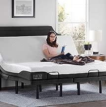 LUCID L300 Adjustable Bed Basewith LUCID 10 Inch Memory Foam Hybrid Mattress-King