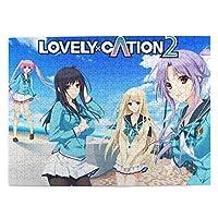 人気 Lovely×cation2 (6) パズル 500ピース 潮流 Diy 絵画 学生 立体パズル 子供 木製パズル おもちゃ 幼児 プレゼント 壁飾り パズルフレーム