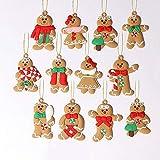 NC - Lote de 12 adornos navideños para decoración de árbol de Navidad, decoración de Navidad