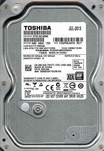 Toshiba dt01aca050AAD AA00/7D0500GB