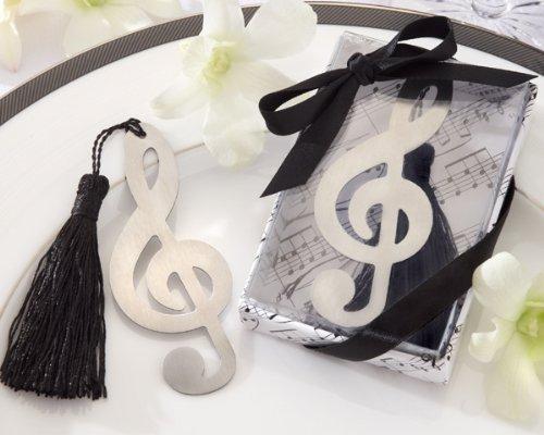 Lotto di 20Meravigliose puntos de Libro Nota Musicale in scatola da regalo + fiocco–Segnalibro, punti libri dettagli di Matrimonio, Comunione, Battesimo e compleanno