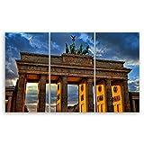 Bilderdepot24 hochwertiges Leinwandbild XXL - Brandenburger