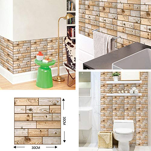 Tapetenkleister 3D Brick Wallpaper Diy Self Adhesive Wall Stickers For Living Room Bathroom Kitchen Backsplash Tiles Paper Waterproof Home Decor-3D-502_20_Pieces