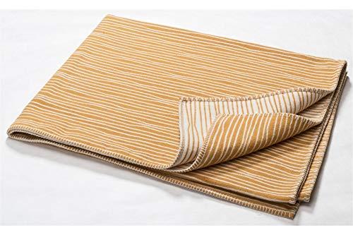 David Fussenegger - NOVA - Bett- Divan Überwurf - Tagesdecke - Streifenstruktur - goldgelb - 145 x 220 cm