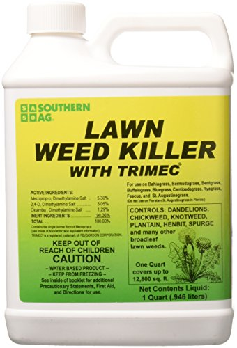 Southern Ag 13503 Lawn Weed Killer with TRIMEC 32oz Herbicide, Brown