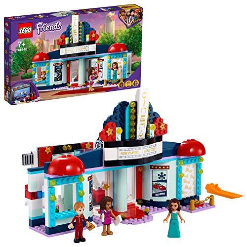 LEGO 41448 Friends Cine de Heartlake City Juguete Interactivo, Sala de Cine con Soporte para Teléfono, Alfombra Roja y 3 Minipersonajes