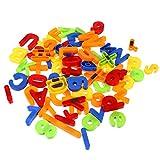 SOLUSTRE 80 Piezas de Letras Magnéticas Números Alfabeto Imanes de Nevera Niños Aprendizaje Juguete Refrigerador Pegatinas Magnéticas para Pizarra de Oficina en Casa Niños