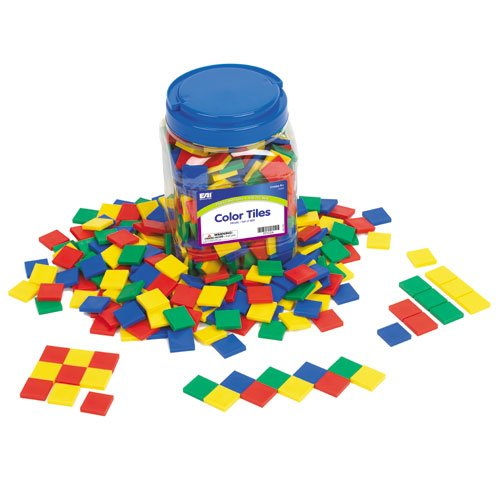 EAI Education Color Tiles: Plastic - Set of 400